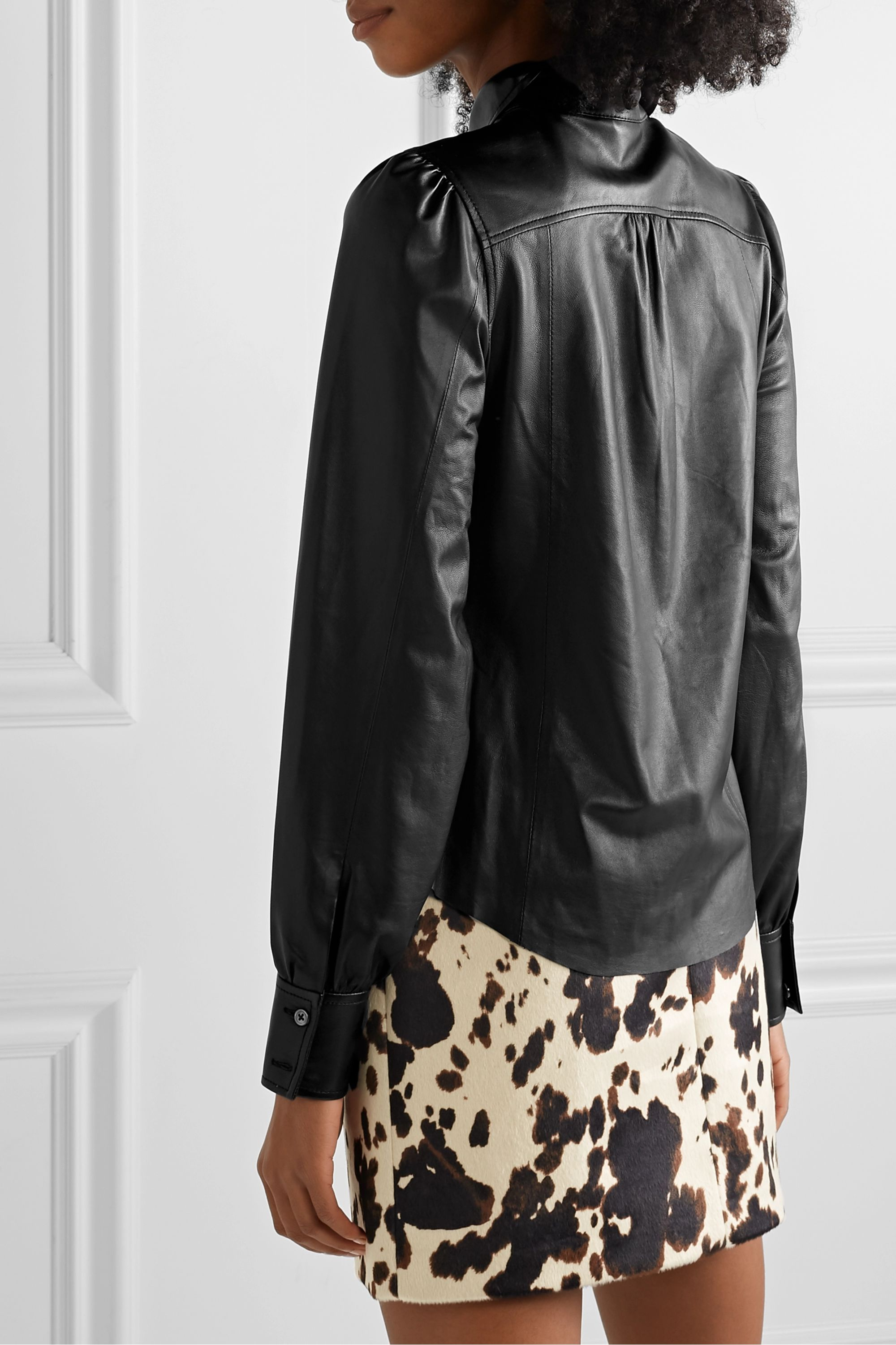 FRAME Leather shirt