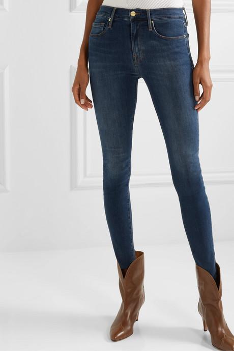 Le Skinny de Jeanne Slit Rivet mid-rise jeans