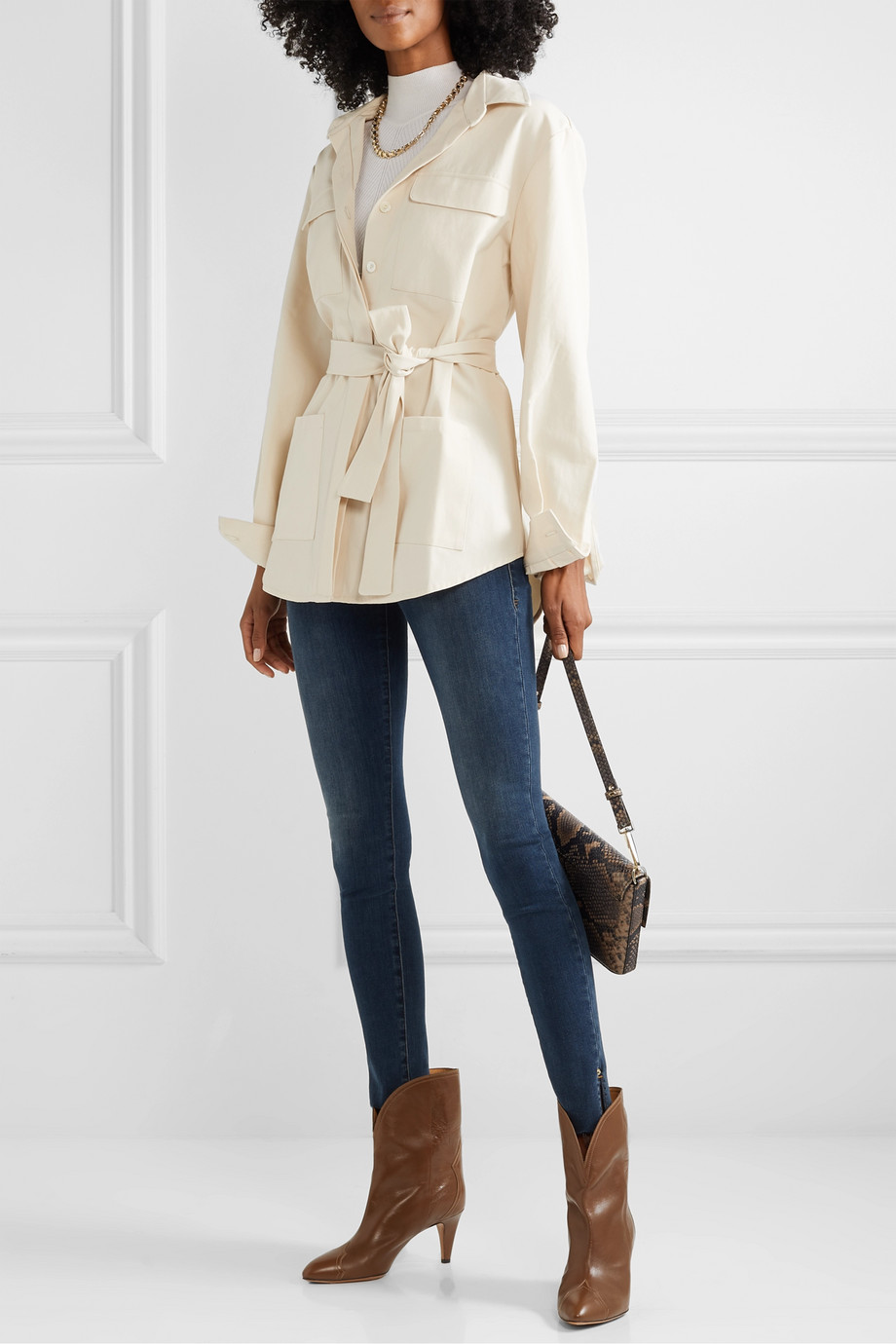 FRAME Le Skinny de Jeanne Slit Rivet mid-rise jeans