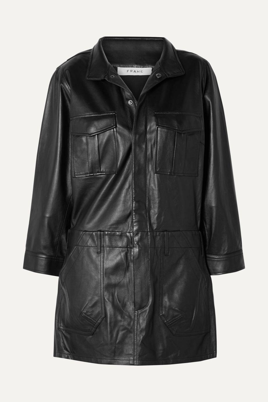 FRAME Leather mini dress