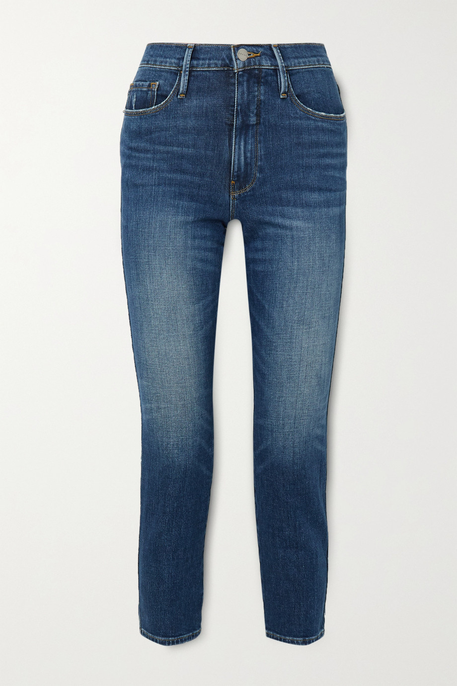 FRAME Le Pixie Sylvie cropped high-rise straight-leg jeans