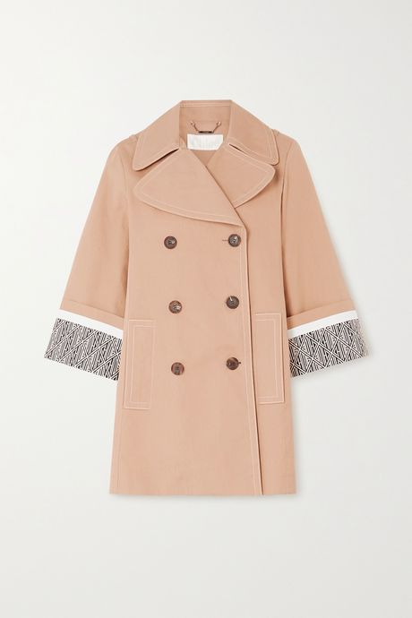 Beige Cotton trench coat | Chloé wB9F1K
