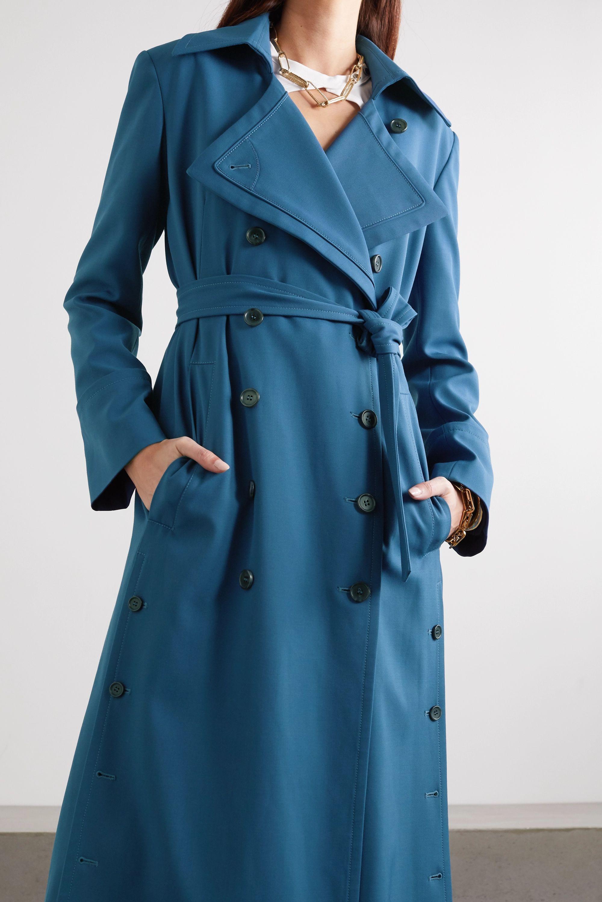 Chloé 双排扣配腰带华达呢外套