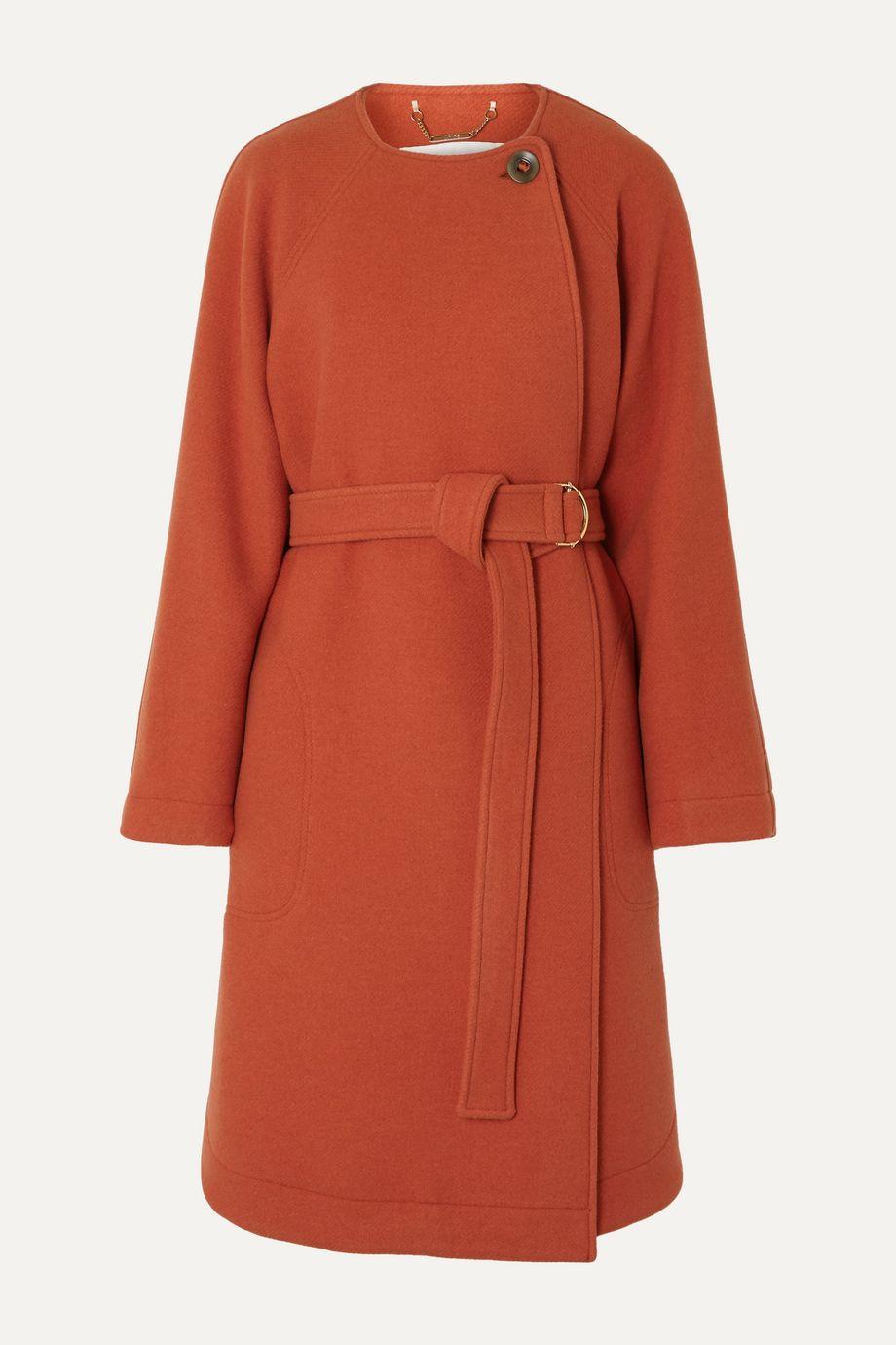 Chloé Belted wool-blend felt coat