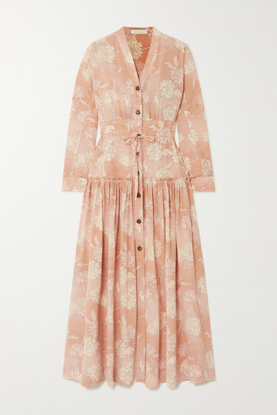 Chloé Floral-print silk crepe de chine maxi dress