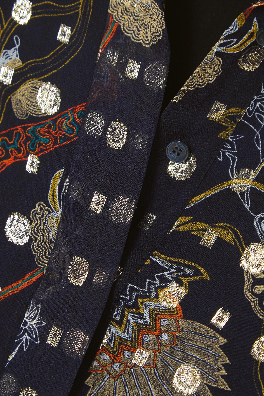 Chloé Robe longue en georgette de soie imprimée à broderies