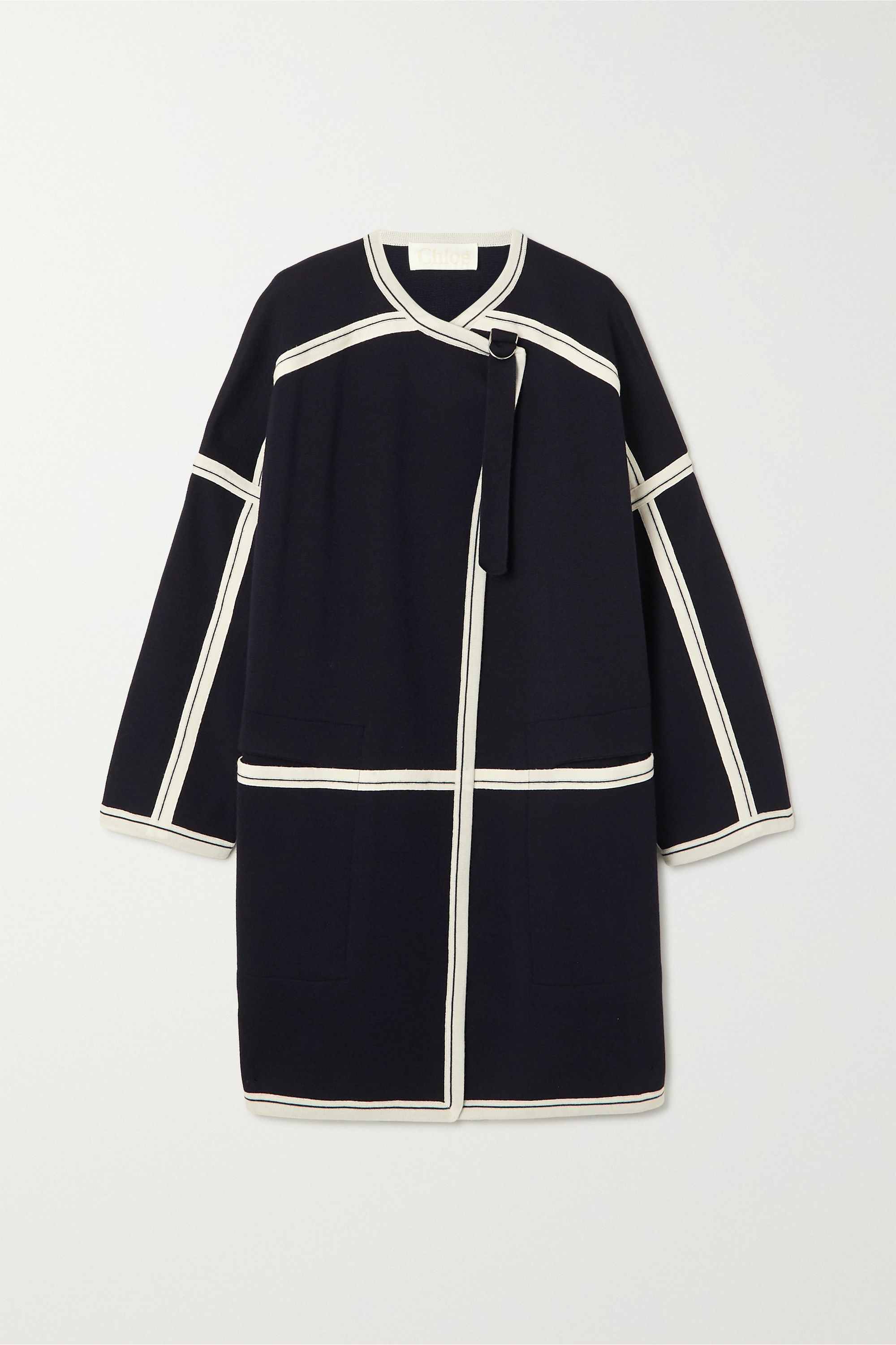 Chloé Oversized two-tone wool cape