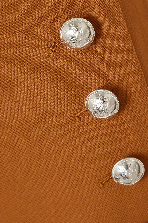 Chloé Button-embellished stretch-wool wide-leg pants