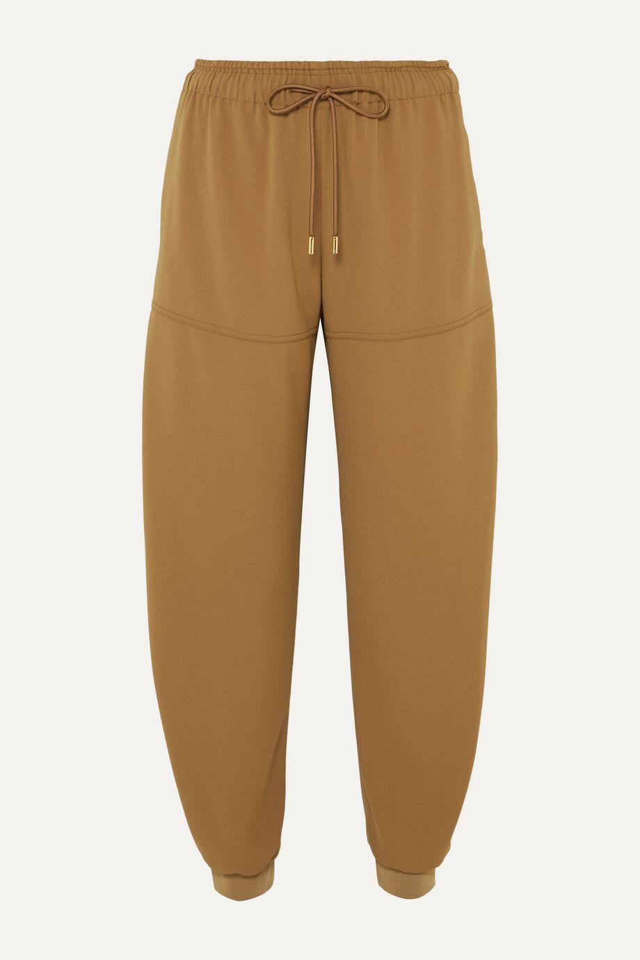 Chloé Satin-jersey tapered track pants