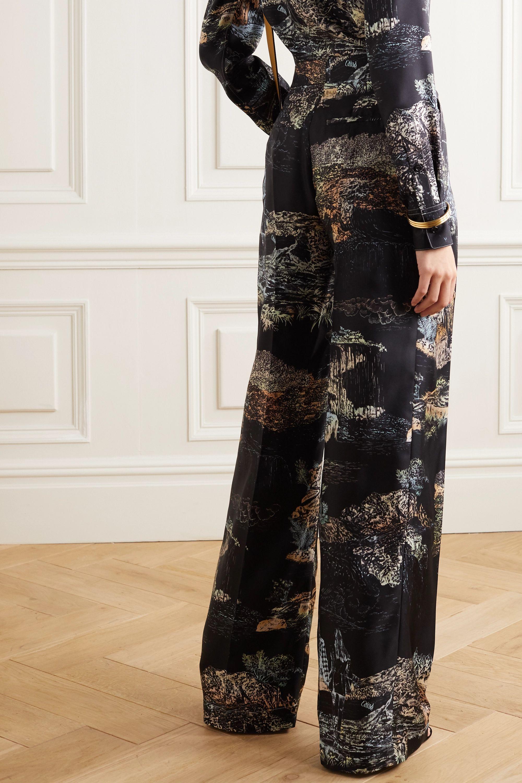Chloé Pantalon large en serge de soie imprimée