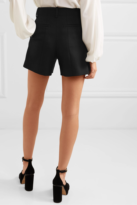 Chloé Wool-blend twill shorts