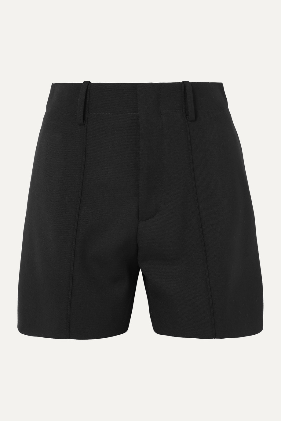 Chloé Wool-blend twill shorts