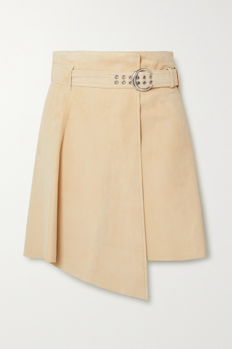 Chloé Asymmetric suede mini skirt