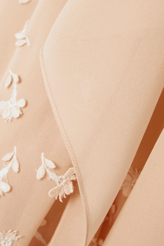 Chloé Schluppenbluse aus Seiden-Georgette mit Applikationen