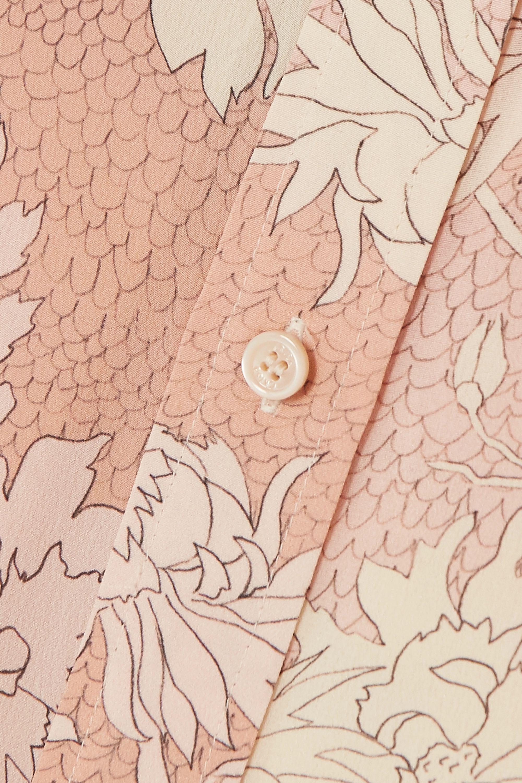Chloé Chemisier en crêpe de Chine de soie à imprimé fleuri