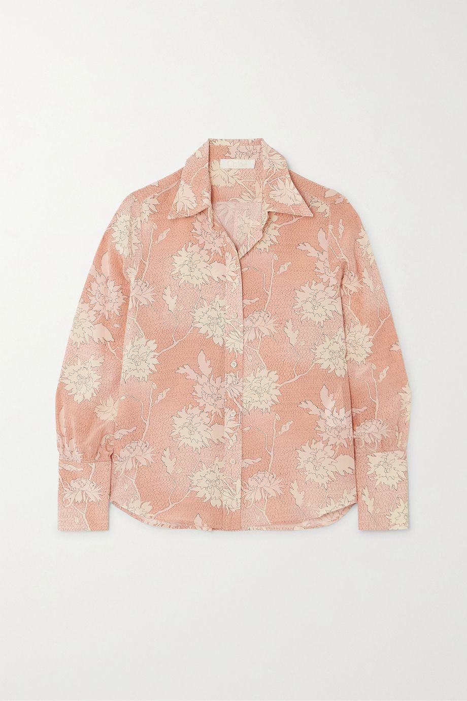 Chloé Floral-print silk crepe de chine blouse