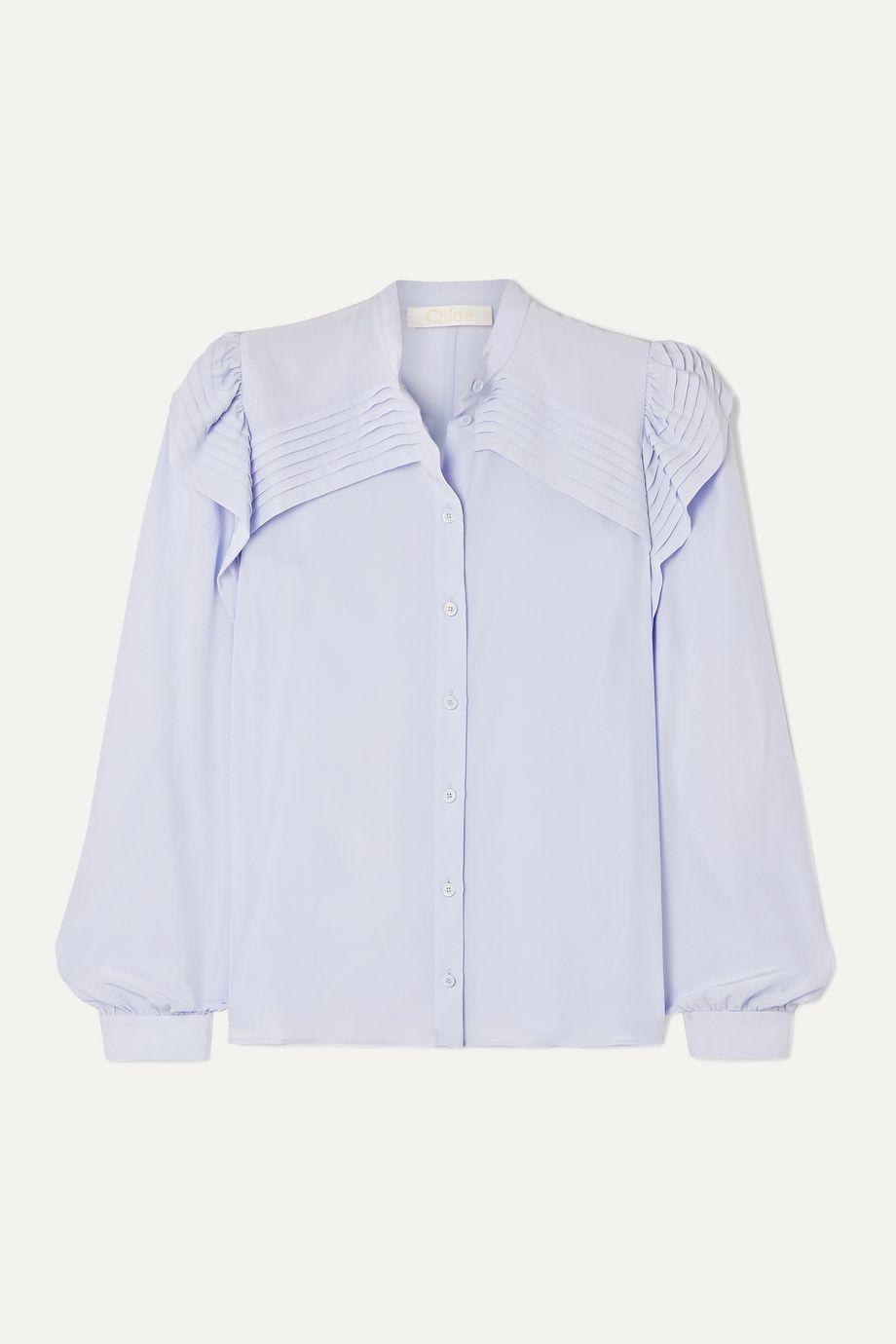 Chloé Ruffled silk crepe de chine blouse