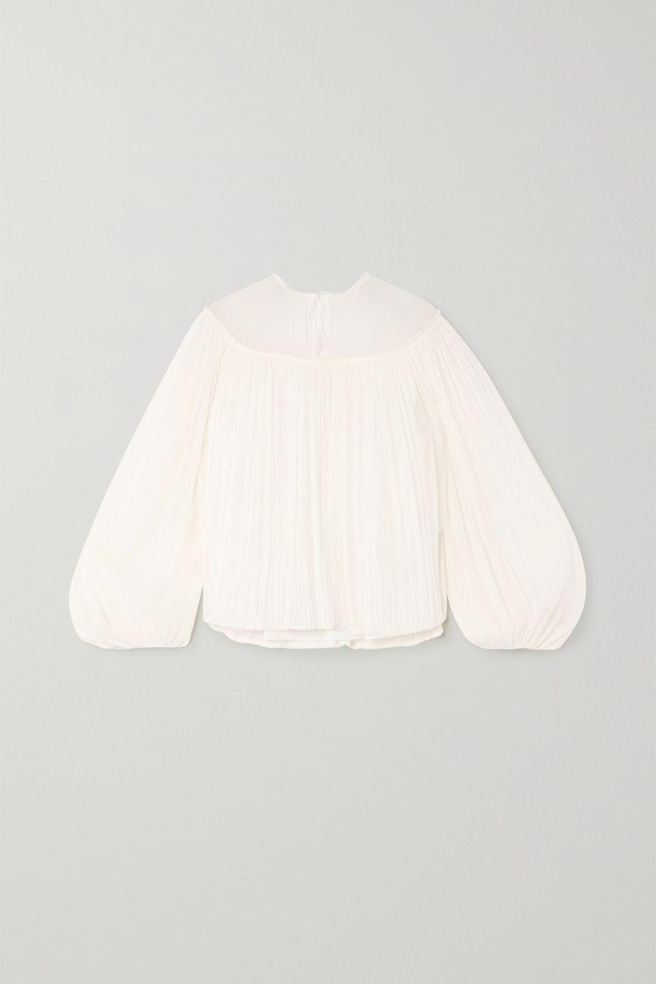 Chloé Silk-crepon blouse