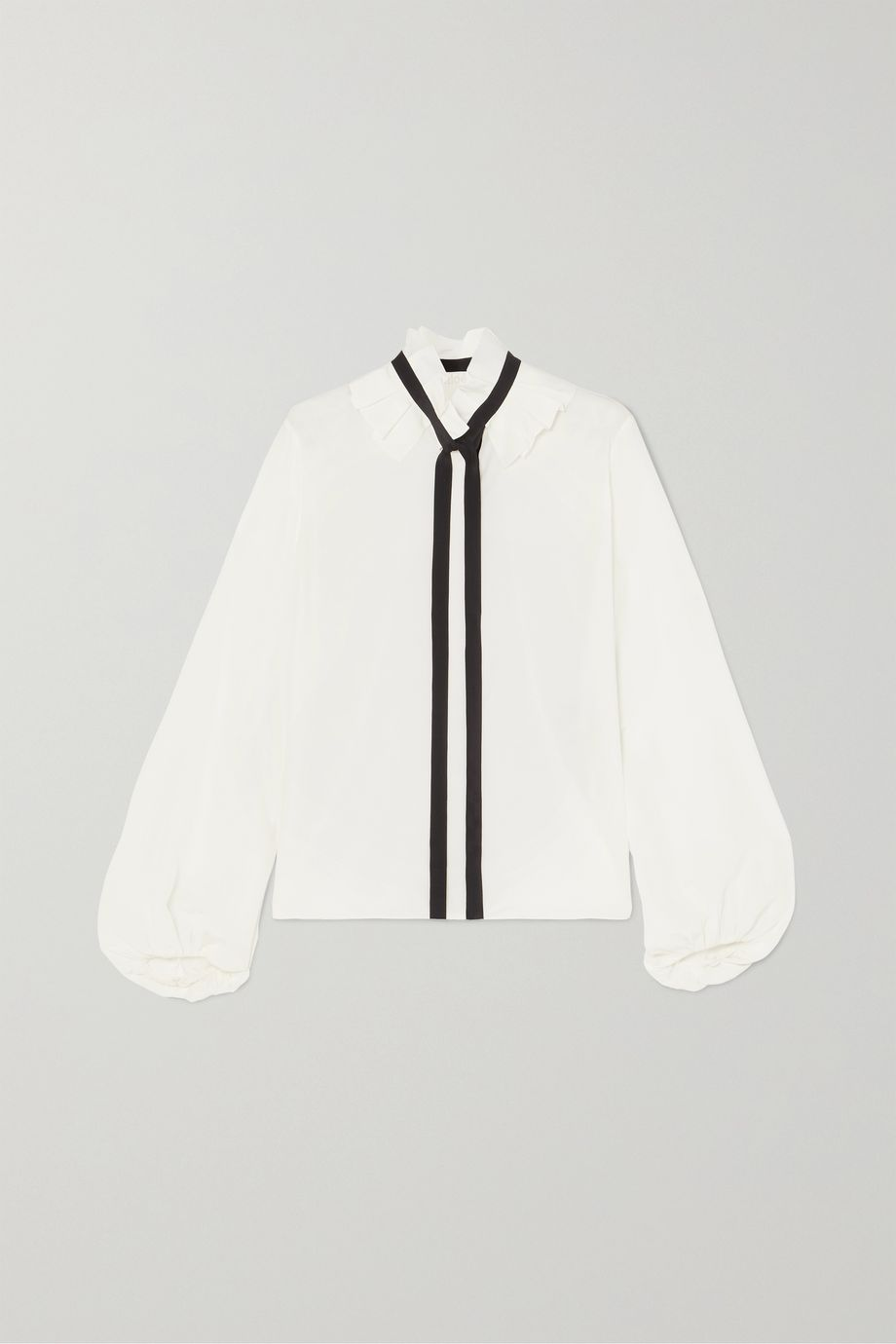Chloé Ruffled pussy-bow silk crepe de chine blouse