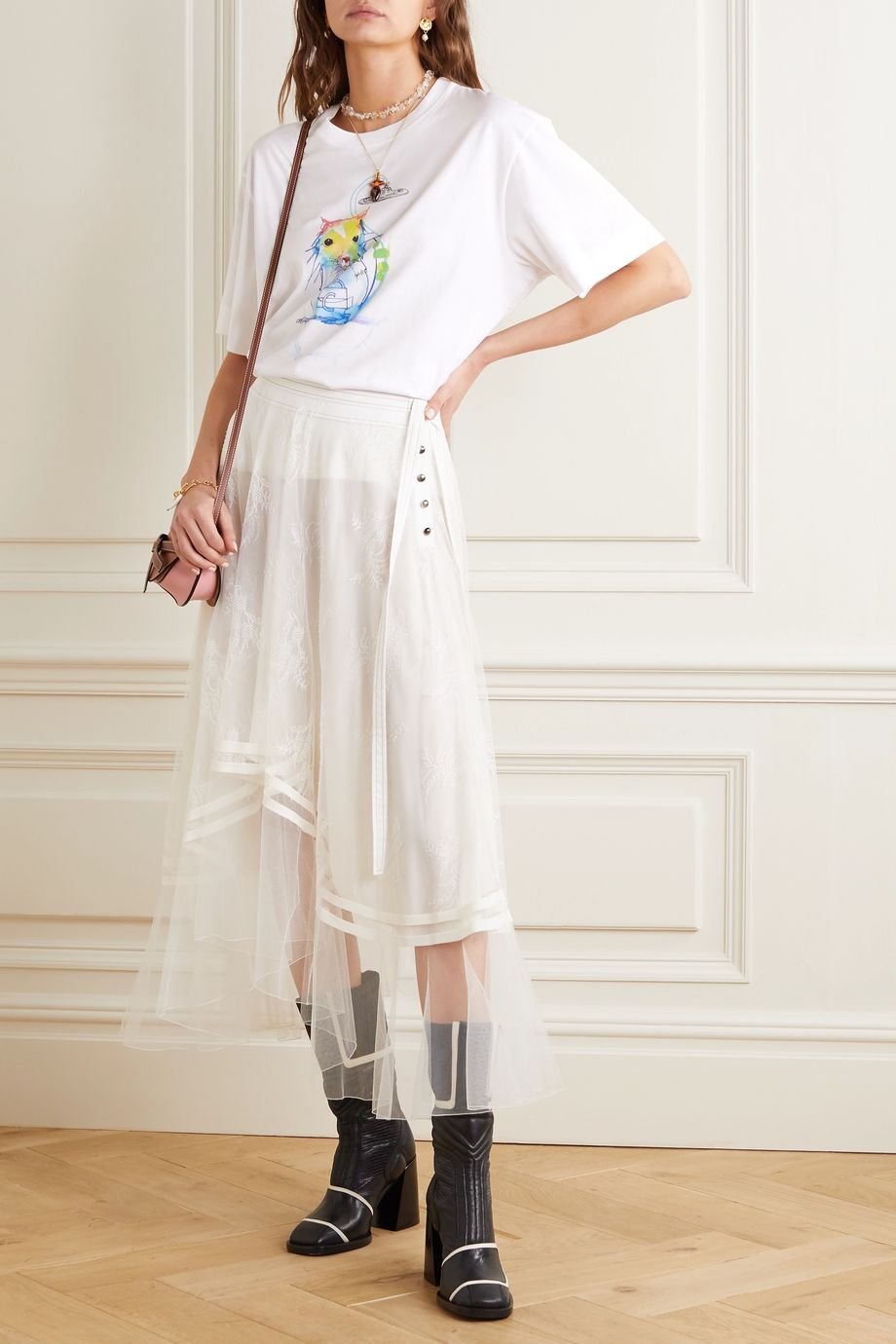 Chloé Printed cotton-jersey T-shirt