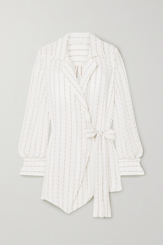 Chloé Silk-blend jacquard wrap shirt