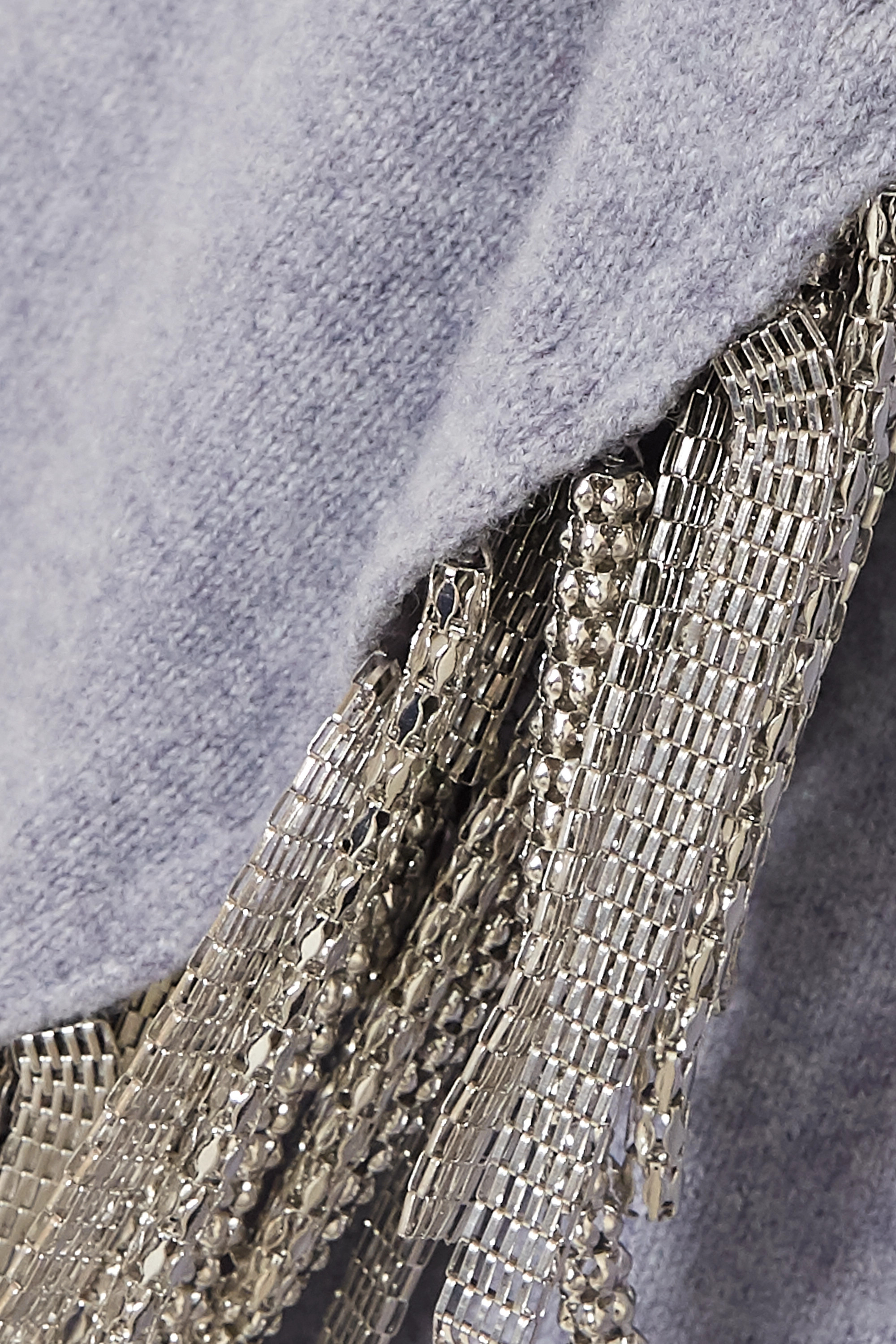 Christopher Kane Chain-embellished wool, silk and cashmere-blend sweater