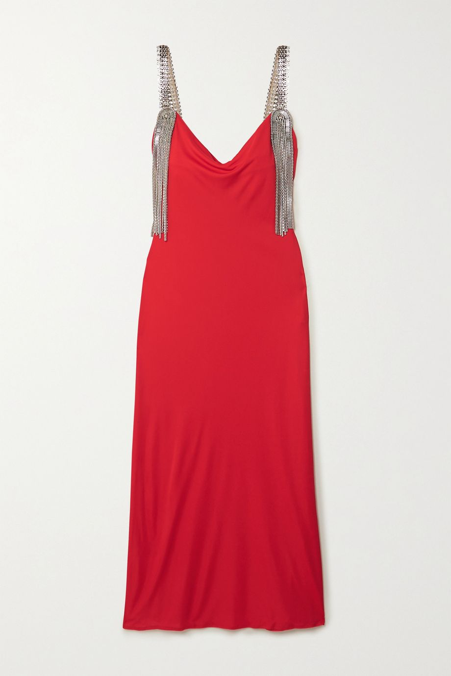 Christopher Kane Embellished jersey midi dress