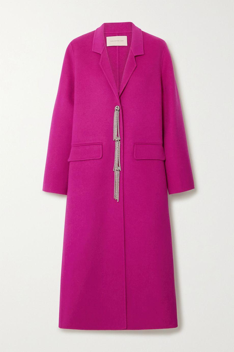 Christopher Kane Embellished wool coat