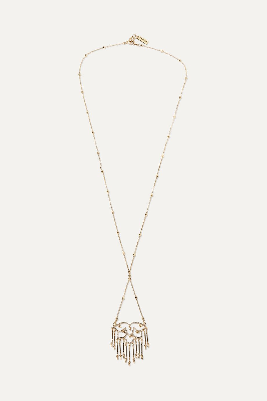 Etro Gold-tone beaded lattice necklace