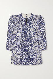 Ulla Johnson Wren floral-print denim mini dress
