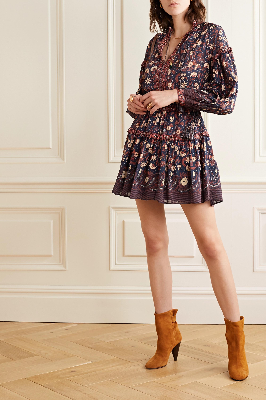 Ulla Johnson Marigold tasseled floral-print cotton-voile mini dress