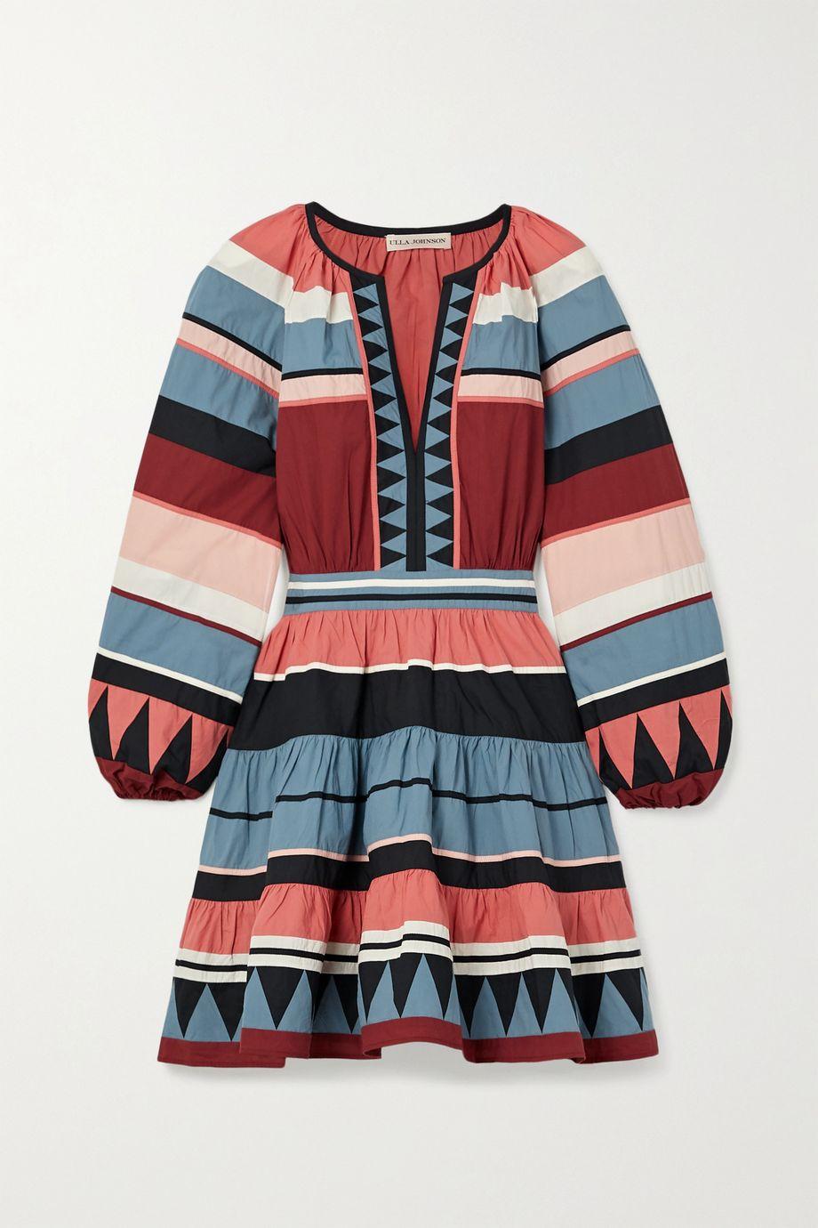 Ulla Johnson Mika striped cotton-poplin mini dress