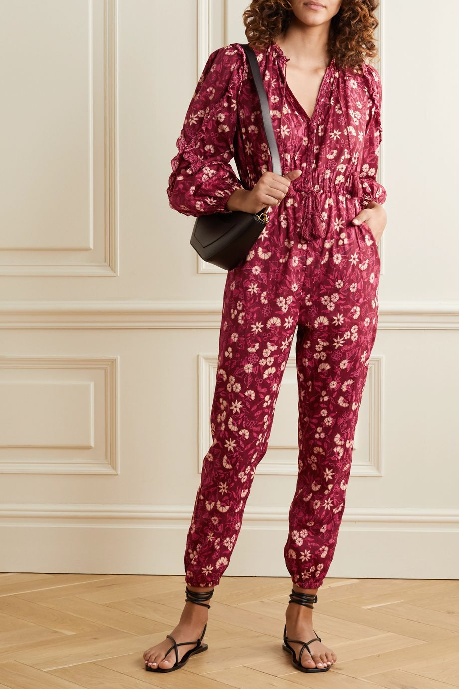 Ulla Johnson Delphine floral-print cotton-voile jumpsuit