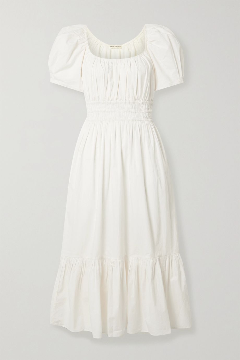 Ulla Johnson Isla ruffled cotton-poplin midi dress