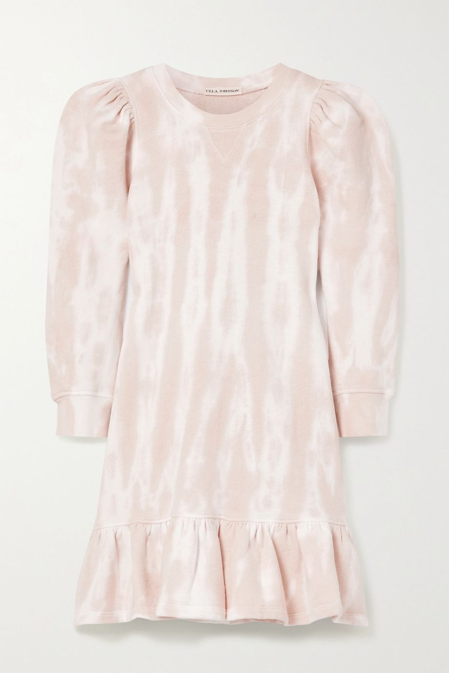 Ulla Johnson Eli ruffled tie-dyed cotton-jersey mini dress