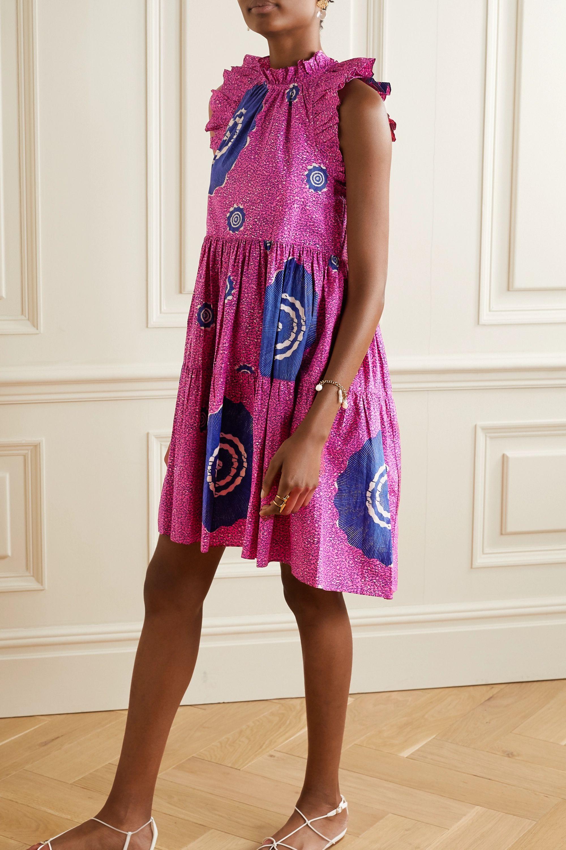 Ulla Johnson Tamsin ruffled printed cotton-poplin dress