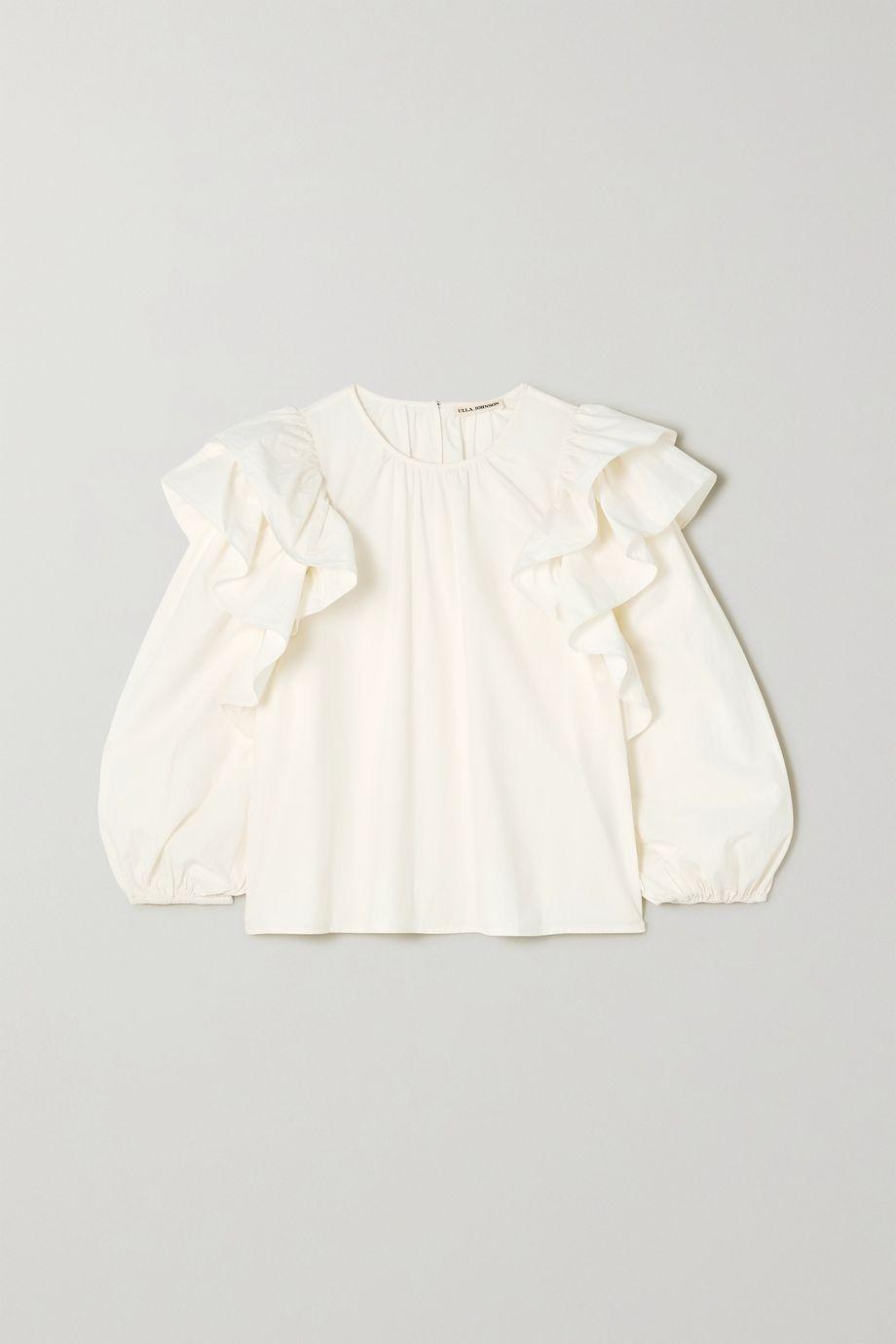 Ulla Johnson Caasi ruffled cotton-poplin blouse