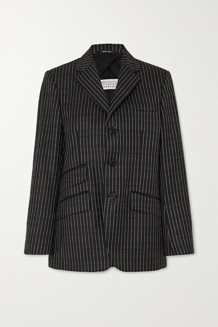 Maison Margiela 羊毛混纺提花西装外套
