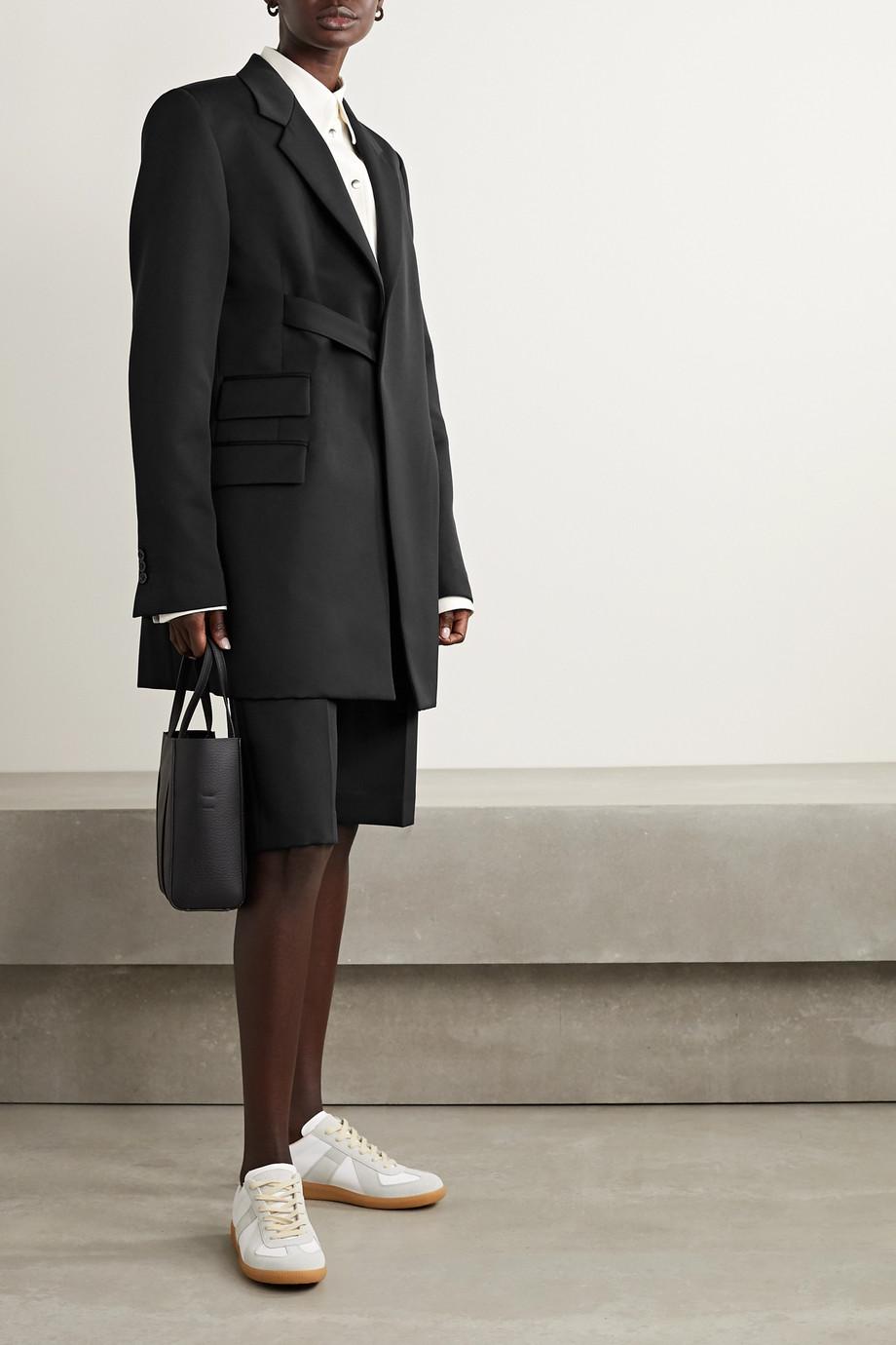 Maison Margiela 大廓形配腰带粒纹面料西装外套