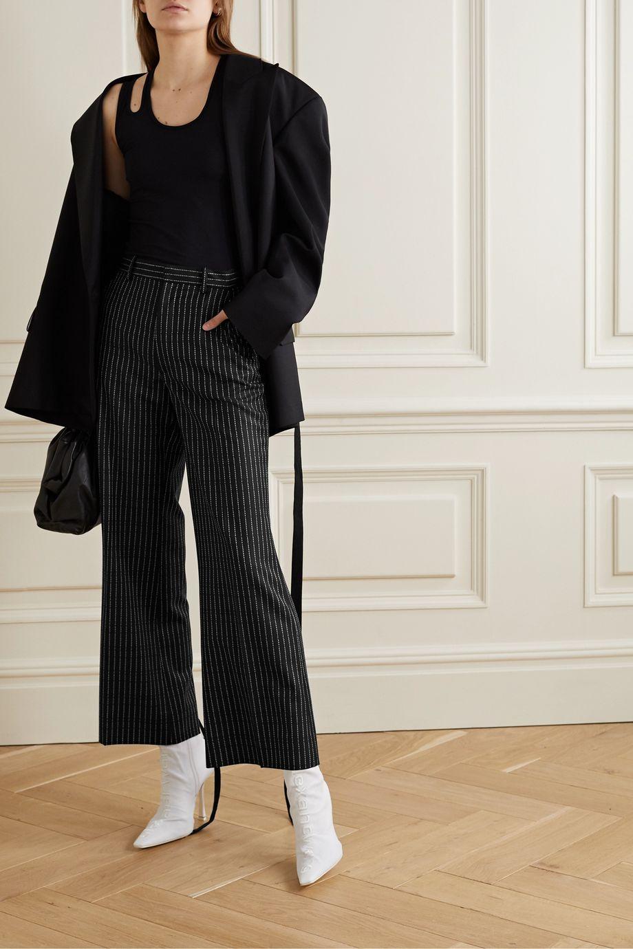 Maison Margiela 羊毛提花九分阔腿裤