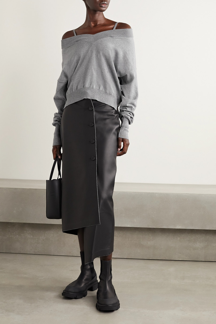 Maison Margiela 挖肩纯棉平纹布卫衣