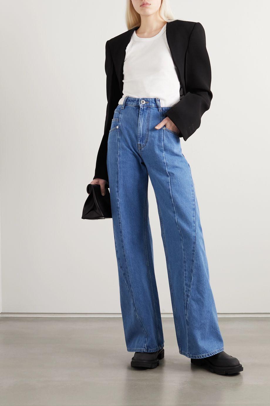 Maison Margiela Paneled high-rise wide-leg jeans