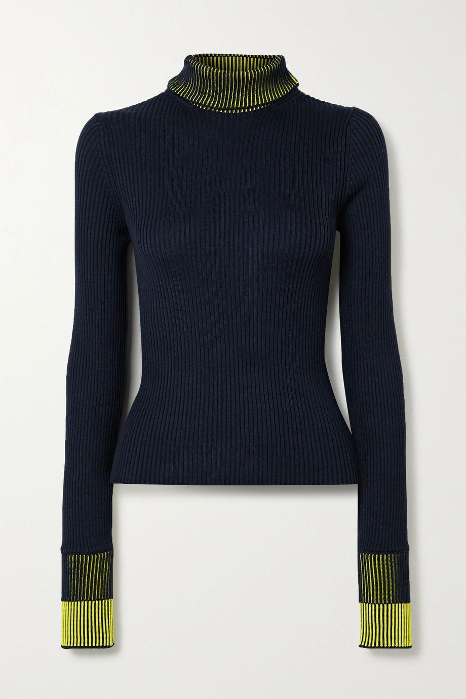 Maison Margiela Ribbed cotton-blend turtleneck sweater