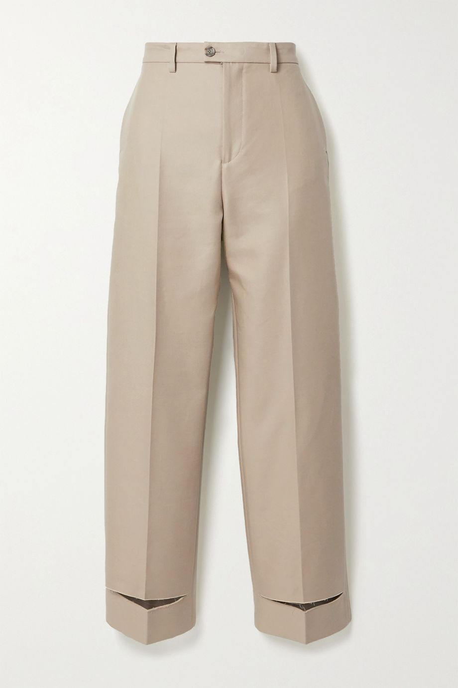Maison Margiela 棉质混纺斜纹布直筒裤