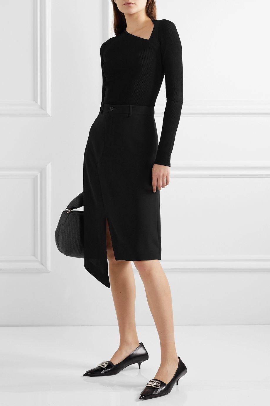 Maison Margiela 不对称绉纱半身裙