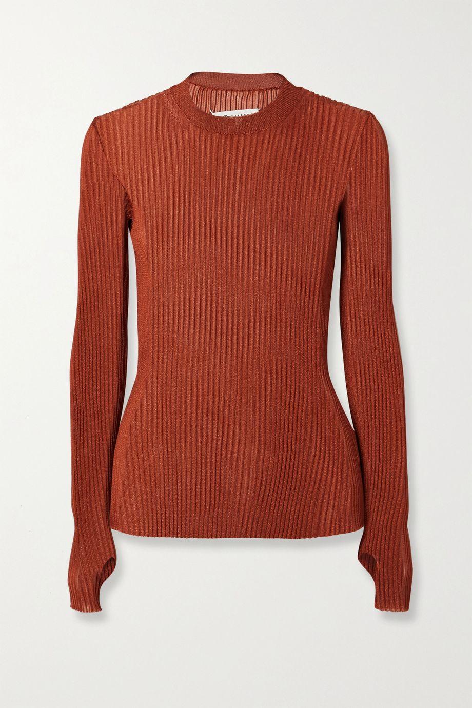 Maison Margiela 金属感罗纹针织毛衣