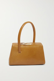 Baby Boss lizard-effect leather tote