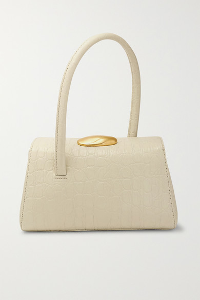Baby Boss Croc Effect Leather Tote by Little Liffner