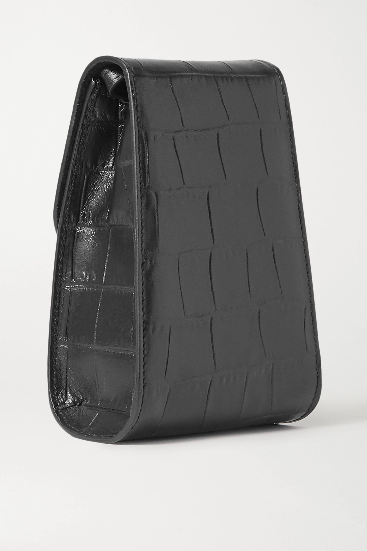 Little Liffner Camera croc-effect leather shoulder bag