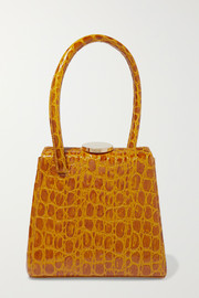 Mademoiselle croc-effect leather tote